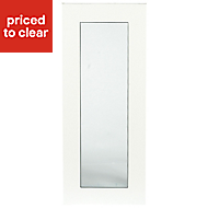 IT Kitchens Sandford Ivory Style Slab Glazed Cabinet door (W)300mm