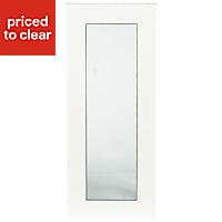 IT Kitchens Sandford Ivory Style Slab Glazed Cabinet door (W)300mm