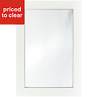 IT Kitchens Sandford Ivory Style Slab Glazed Cabinet door (W)500mm