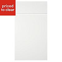IT Kitchens Sandford Ivory Style Slab Drawerline door & drawer front, (W)400mm
