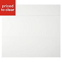 IT Kitchens Sandford Ivory Style Slab Drawer front (W)800mm, Set of 3