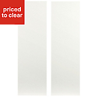 IT Kitchens Sandford Ivory Style Slab Larder Cabinet door (W)300mm, Set of 2