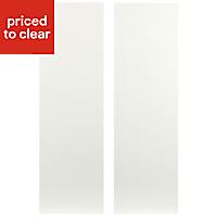 IT Kitchens Sandford Ivory Style Slab Larder Cabinet door (W)300mm, Set of 2