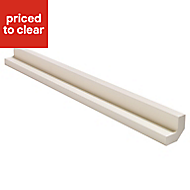 IT Kitchens Ivory Style Base corner post, (W)72mm (H)715mm