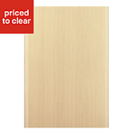 IT Kitchens Sandford Textured Oak Effect Slab Standard Cabinet door (W)500mm