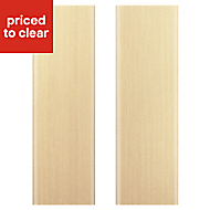 IT Kitchens Sandford Textured Oak Effect Slab Larder Cabinet door (W)600mm, Set of 2
