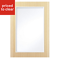 IT Kitchens Sandford Textured Oak Effect Slab Glazed Cabinet door (W)500mm
