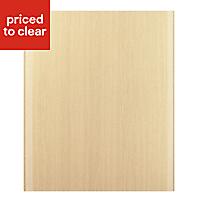 IT Kitchens Sandford Textured Oak Effect Slab Integrated appliance Cabinet door (W)600mm
