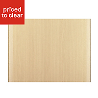 IT Kitchens Sandford Textured Oak Effect Slab Belfast sink Cabinet door (W)600mm
