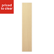 IT Kitchens Sandford Textured Oak Effect Slab Standard Cabinet door (W)150mm