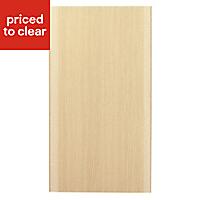 IT Kitchens Sandford Textured Oak Effect Slab Standard Cabinet door (W)400mm