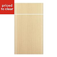IT Kitchens Sandford Textured Oak Effect Slab Drawerline door & drawer front, (W)400mm