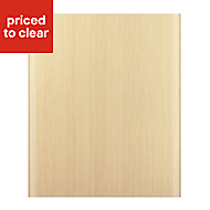 IT Kitchens Sandford Textured Oak Effect Slab Standard Cabinet door (W)600mm