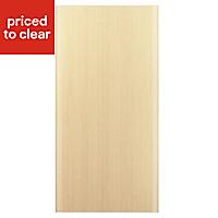 IT Kitchens Sandford Textured Oak Effect Slab Fridge/Freezer Cabinet door (W)600mm
