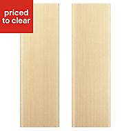 IT Kitchens Sandford Textured Oak Effect Slab Larder Cabinet door (W)300mm, Set of 2