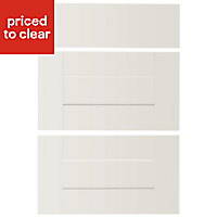 IT Kitchens Westleigh Ivory Style Shaker Drawer front (W)500mm, Set of 3