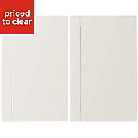 IT Kitchens Westleigh Ivory Style Shaker Larder Cabinet door (W)600mm, Set of 2