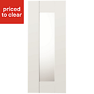 IT Kitchens Westleigh Ivory Style Shaker Glazed Cabinet door (W)300mm