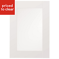 IT Kitchens Westleigh Ivory Style Shaker Glazed Cabinet door (W)500mm