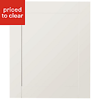 IT Kitchens Westleigh Ivory Style Shaker Integrated appliance Cabinet door (W)600mm