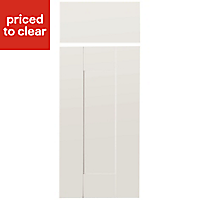 IT Kitchens Westleigh Ivory Style Shaker Drawerline door & drawer front, (W)300mm