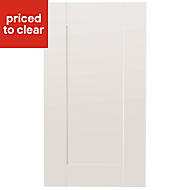 IT Kitchens Westleigh Ivory Style Shaker Standard Cabinet door (W)400mm