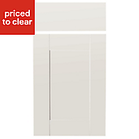 IT Kitchens Westleigh Ivory Style Shaker Drawerline door & drawer front, (W)400mm