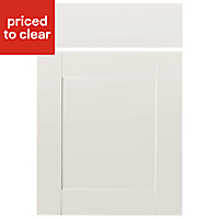 IT Kitchens Westleigh Ivory Style Shaker Drawerline door & drawer front, (W)500mm
