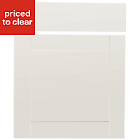 IT Kitchens Westleigh Ivory Style Shaker Drawerline door & drawer front, (W)600mm