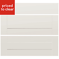IT Kitchens Westleigh Ivory Style Shaker Drawer front (W)800mm, Set of 3