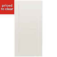 IT Kitchens Westleigh Ivory Style Shaker Fridge/Freezer Cabinet door (W)600mm