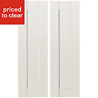 IT Kitchens Westleigh Ivory Style Shaker Larder Cabinet door (W)300mm, Set of 2