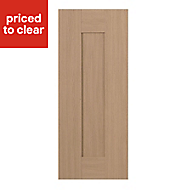 IT Kitchens Westleigh Textured Oak Effect Shaker Standard Cabinet door (W)300mm