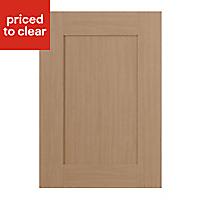 IT Kitchens Westleigh Textured Oak Effect Shaker Standard Cabinet door (W)500mm