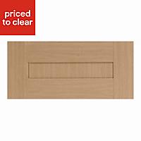 IT Kitchens Westleigh Textured Oak Effect Shaker Bridging Cabinet door (W)600mm