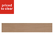 IT Kitchens Westleigh Textured Oak Effect Shaker Oven Filler Panel (H)115mm (W)597mm