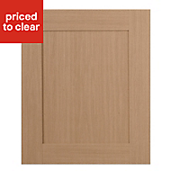 IT Kitchens Westleigh Textured Oak Effect Shaker Integrated appliance Cabinet door (W)600mm