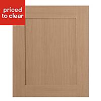 IT Kitchens Westleigh Textured Oak Effect Shaker Integrated appliance Cabinet door (W)600mm