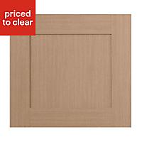 IT Kitchens Westleigh Textured Oak Effect Shaker Oven housing Cabinet door (W)600mm