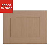 IT Kitchens Westleigh Textured Oak Effect Shaker Belfast sink Cabinet door (W)600mm