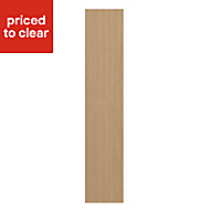 IT Kitchens Westleigh Textured Oak Effect Shaker Standard Cabinet door (W)150mm