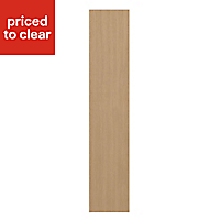 IT Kitchens Westleigh Textured Oak Effect Shaker Standard Cabinet door (W)150mm