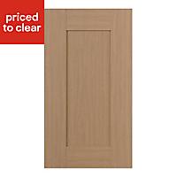 IT Kitchens Westleigh Textured Oak Effect Shaker Standard Cabinet door (W)400mm