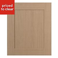IT Kitchens Westleigh Textured Oak Effect Shaker Standard Cabinet door (W)600mm
