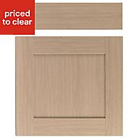 IT Kitchens Westleigh Textured Oak Effect Shaker Drawerline door & drawer front, (W)600mm