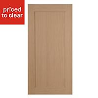 IT Kitchens Westleigh Textured Oak Effect Shaker Fridge/Freezer Cabinet door (W)600mm