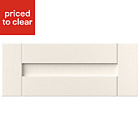 IT Kitchens Textured Ivory Style Shaker Cabinet door (W)600mm