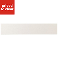 IT Kitchens Brookfield Textured Ivory Style Shaker Oven Filler Panel (H)115mm (W)597mm