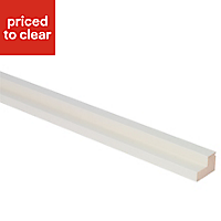 IT Kitchens Ivory Straight Cornice & pelmet, (L)2440mm (H)35mm