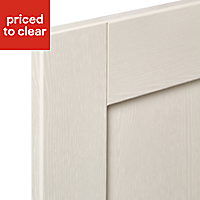 IT Kitchens Textured Ivory Style Shaker Tall Cabinet door (W)600mm